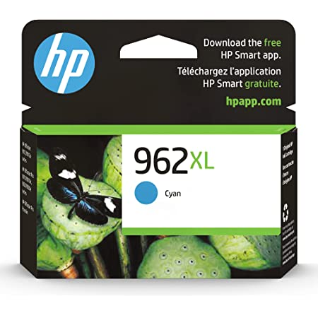 Original HP 962XL Cyan High-yield Ink Cartridge   Works with HP OfficeJet 9010 Series, HP OfficeJet Pro 9010, 9020 Series   Eligible for Instant Ink   3JA00AN