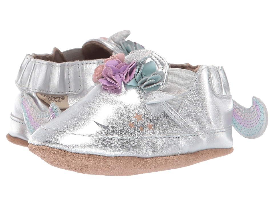 Robeez Uma Unicorn Soft Sole (Infant/Toddler) (Silver) Girl