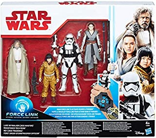 Star Wars Force Link 4-Figure Set, Luke Skywalker, Rey, Rose, Stormtrooper