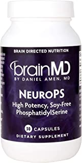 Dr. Amen brainMD NeuroPS - 150 mg PhosphatidylSerine, 30 Capsules - Promotes Mental Focus, Energy & Memory, Supports Healt...