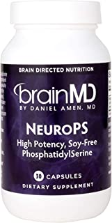 Dr. Amen brainMD NeuroPS - 150 mg PhosphatidylSerine, 30 Capsules - Promotes Mental Focus, Energy & Memory, Supports Healthy Learning & Concentration, Anti-Aging - Gluten-Free - 30 Servings
