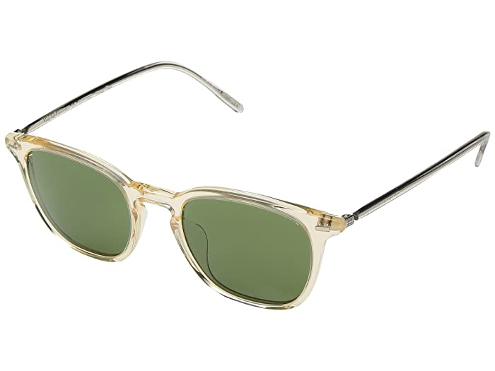 Oliver Peoples Heaton (Buff/Green C) Fashion Sunglasses