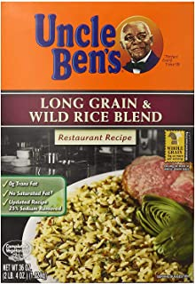 Uncle Ben's Long Grain & Wild Rice Blend - Restaurant Recipe - 36 Oz. (2 Pack)