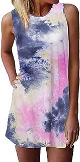 ZANZEA Chaleco sin Mangas de Verano para Mujer Mini Vestido Gradiente Slim Tank Tops Playa Camiseta Vestidos 01 EU 52