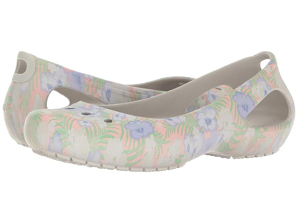 Crocs Kadee Graphic Flat (Light Pink/Floral) Women