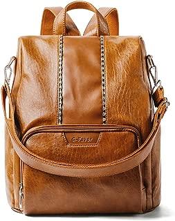 Women Backpack Purse PU Leather Anti-theft Fashion Travel Casual Schoolbags Ladies Rucksack Detachable Satchel Shoulder Bag