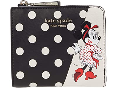 Kate Spade New York Disney X Kate Spade New York Minnie Mouse Small Bifold (Black Multi) Handbags
