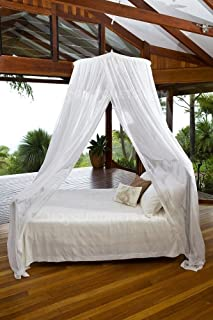 MOSQUITO NET BED CANOPY   KING / QUEEN Size Bed Net   Easy Care machine washable cotton mosquito netting   Secure insect protection with the best quality designer mosquito net