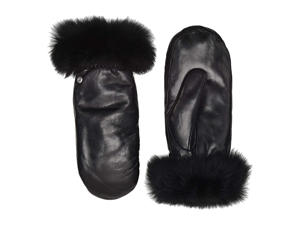 UGG Leather Tech Mitten (Black) Extreme Cold Weather Gloves