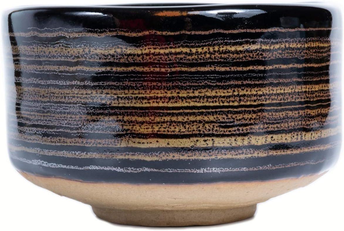 DuringVillage Chawan Tea OFFicial store Bowl Regular discount MINO Ceramic YAKI Pottery Chocolat