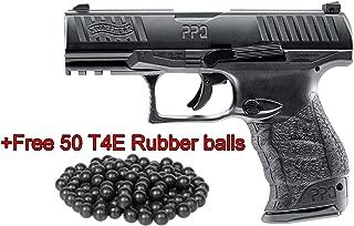 T4E Umarex .43cal Walther PPQ Paintball Pistol Black semi auto CO2 Magazine W/Free 50 RUBBERBALLS