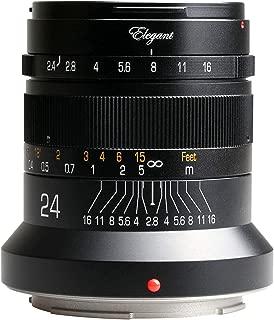 KIPON Elegant 24mm F2.4 Full Frame Camera Lenses for Nikon Z Mount (Black)