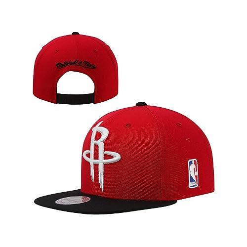 40747e8325b9f Mitchell   Ness Mens NBA Houston Rockets Sta3 Acrylic Snapback Hat