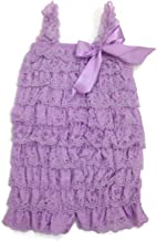 Rush Dance Baby/Toddler Girls Layered Lace Ruffle Petti Romper