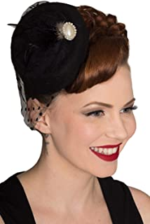 Vintage 40's 50's Fascinator Net Feather All A Dream Wedding Hat