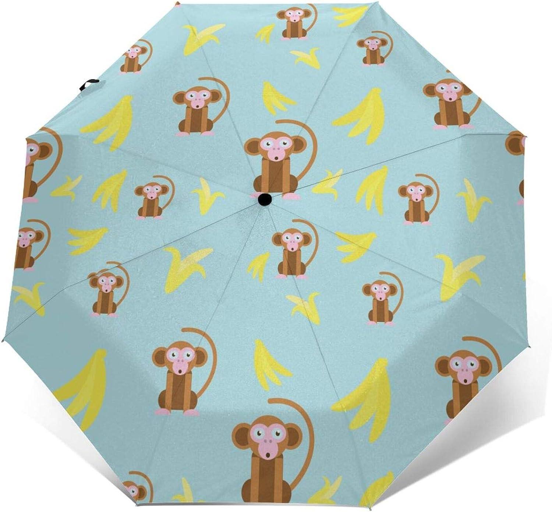 Cute Max 59% OFF rabbit and leaves Auto Open Folding Umbrella Mesa Mall Win Close