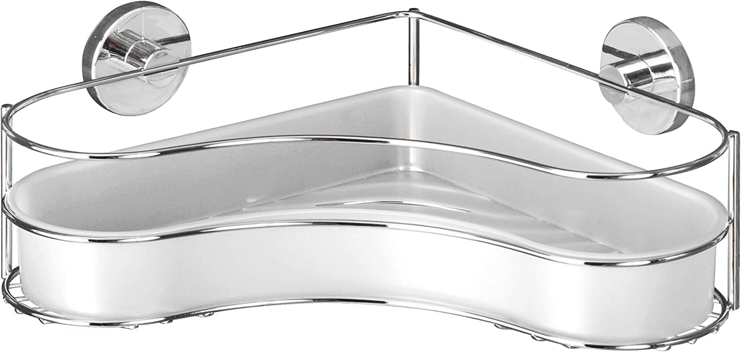WENKO 20894100 Vacuum-Loc Direct sale of manufacturer Corner Shelf Credence Milazzo Without Fixing -