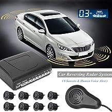 $79 » Value.Trade.Inc - 8 Sensors Voice Parking Sensor System Car Reversing Assistance Backup Radar Buzzer System With Human Sound Alarm Kit Monitor
