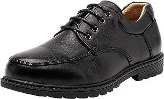 AHANNIE Boy's Classical Leather School Uniform Dress Shoes Kids Lace-up Black Loafers Shoe Slip-On(Little Kid/Big Kid)
