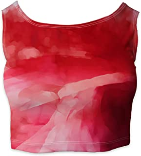 Rainbow Rules Colored Abstract Watercolor Sleeveless Crop Top