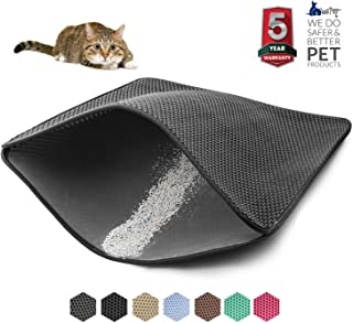 WePet Cat Litter Mat, Kitty Litter Trapping Mat, Litter Box Rug Carpet, Honeycomb Double Layer, No Phthalate, Urine Waterproof, Easy Clean, Scatter Control, Litter Trapper Catcher, Washable, for Floor