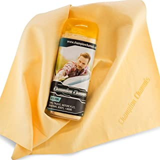 Champion Chamois Synthetic Ultimate Drying Shammy Towel for Car, Boat or Home - Lint & Streak Free (1-Pack, Natural)