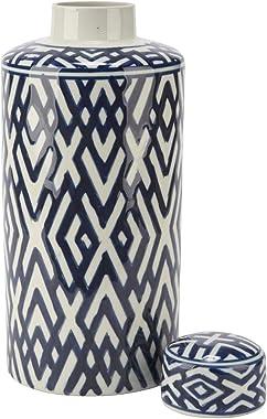 MISC Blue/White Ginger Jar Blue Ceramic