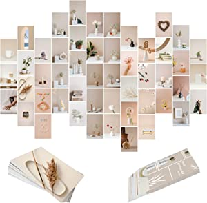 YAIZLBCA Photo Collage Kit For Wall Aesthetic,Wall Decor For Bedroom Aesthetic,Wall Collage Kit Aesthetic Pictures,Posters For Room Aesthetic Vintage,50 Set 4x6 Inch Yellow Room Decor For Teen Girls