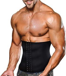 Faja Reductora Adelgazante Hombres Faja Reductora Cinturón Lumbar Abdomen Ajustable para Deporte Fitness Efecto Sauna para la Quema de Grasa