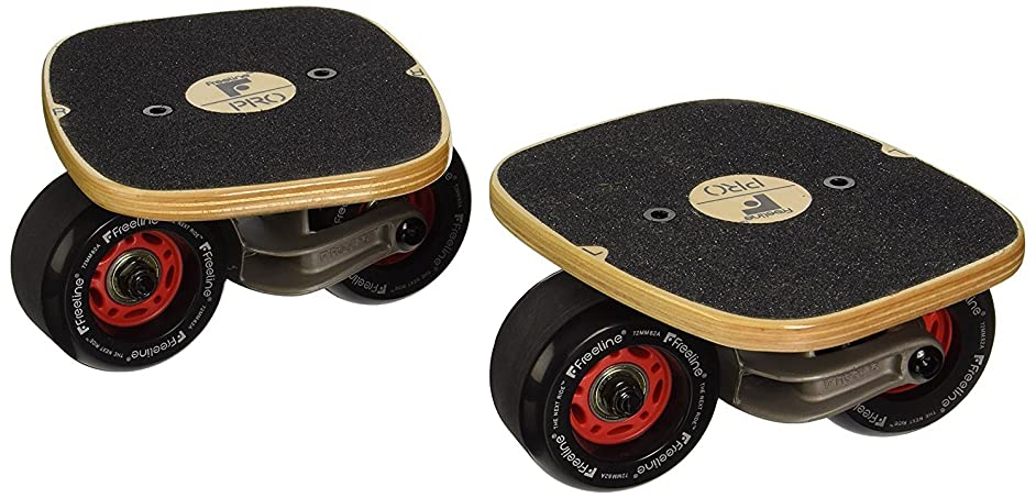 Freeline Skates Roller Road Drift Plate Skates Steel/Wood