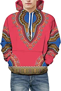 Men's Hoodies, FORUU Lovers Autumn Winter African 3D Print Long Sleeve Dashiki Sweatshirt Top