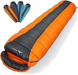 Forceatt Mummy Sleeping Bag for 3 Season(Summer, Spring, Fall) Warm & Cool Weather, Camping Sleeping Bag for Adults & Kids...