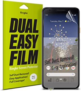 Ringke Dual Easy Film Compatible with Google Pixel 3a XL Screen Protector - 2 Pack