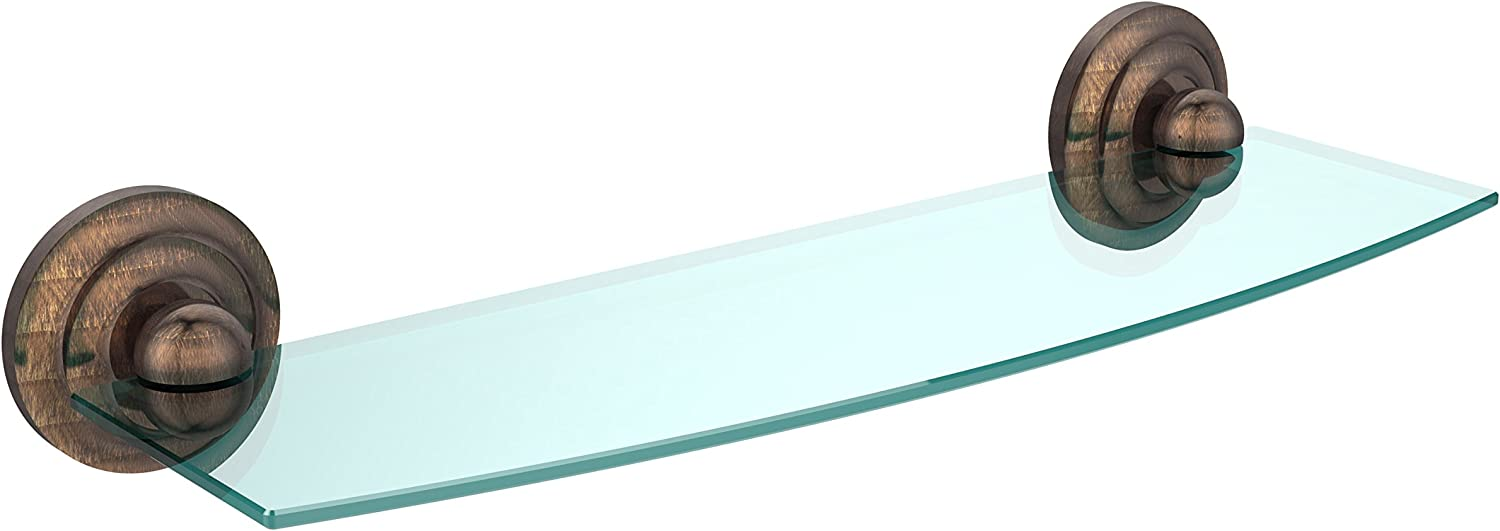 Allied Brass PQN-33 18-BBR 18 X 5 Glass Shelf Satin Brass