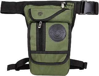 Canvas/Nylon Men Waist Pack Leg Drop Bags Motorcycle Crossbody Messenger Shoulder Belt Bum Male Hip Purse Pouch Thigh Fanny Bags,Army Green Nylon