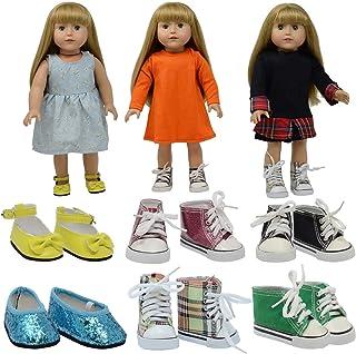 The New York Doll Collection American Girl 6 par (Sneakers) - Passar 18 tum / 46 cm (stil 1) Skor Träningsskor - Docka Til...