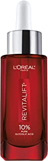 Glycolic Acid Peel Serum for Skin, L'Oreal Paris Revitalift Derm Intensives 10% Pure Glycolic Acid Serum | Dark Spot Corre...