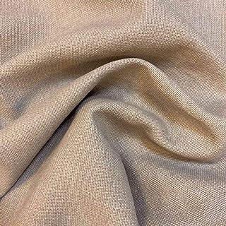 Kt Kilotela Polsterstoff, einfarbig, Panama-Baumwolle, Used-Optik 100 x 140 cm braun