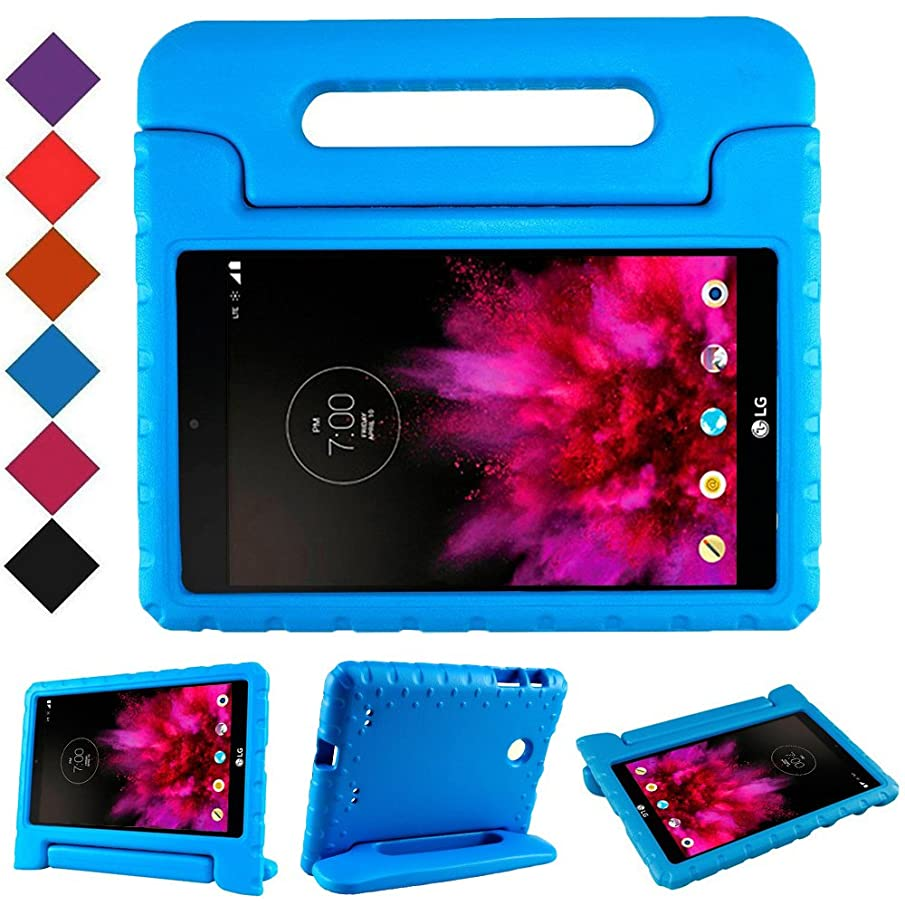 TIRIN LG G Pad 7.0 Kids Case – Light Weight Shock Proof Convertible Handle Stand Kids Case Cover for LG G Pad V400 / V410 (LTE) / VK410 / UK410 / LK430 (G Pad F7.0) 7 Inch,Blue
