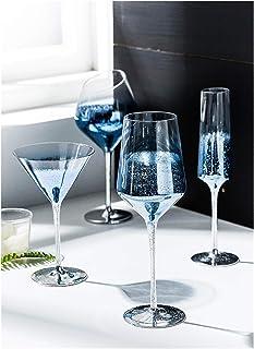 KJGHJ Verre à vin avec ciel étoilé - Verres à champagne - Verres à cocktail en cristal - Pour bar, hôtel, buanderie, flûte...