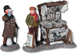 Department 56 Dickens' Village London Newspaper Stand Accessory Figurine (Set of 2)
