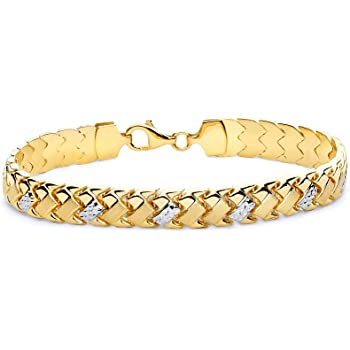 Wellingsale 14k Two 2 Tone White and Yellow Gold Polished Stampato ID Bracelet 6