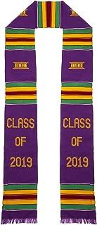 Class of 2019 Kente Cloth Graduation Stole (Purple)
