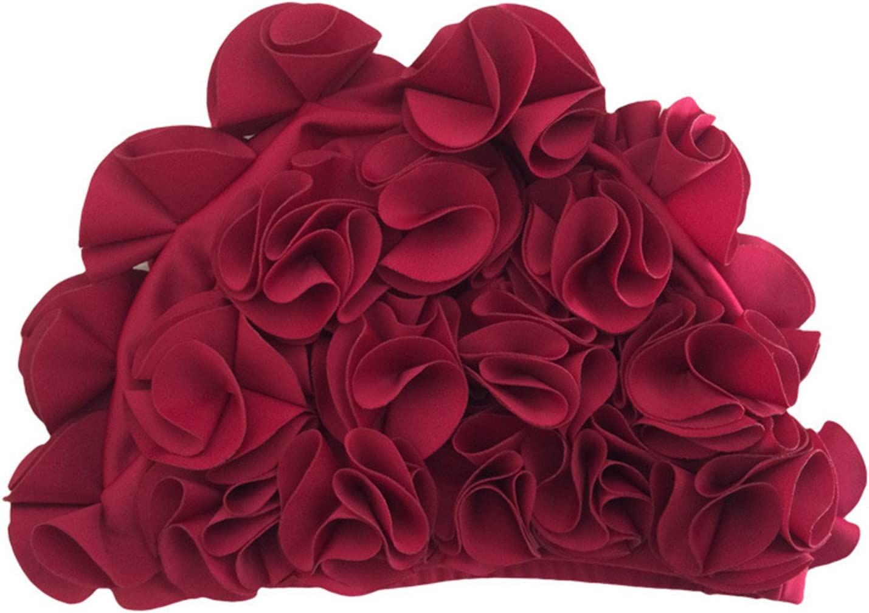 Retro-Stil CrazycatZ@Damen medifier Badekappe mit Blumenmuster Badehaube f/ür Damen Schwimmm/ütze