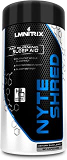 NyteShred - Natural Night time Sleep Aid Supplement & PM Fat Burner Pills for Men & Women - Sleep Better, Recover Faster and Burn Fat - Guaranteed Results - 60 Capsules