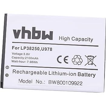 vhbw Li-Ion batería 2100mAh (3.8V) para Smartphone, teléfono móvil ...
