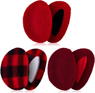 3 Pairs Ear Warmers Bandless Ear Muffs Unisex for Winter Outdoors