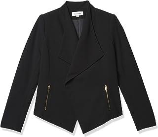 Calvin Klein Women's Scuba Crepe Flyaway Jacket with Zippers