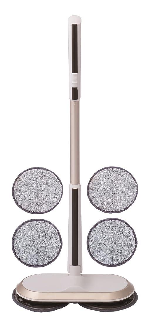 表面的な鉱石刺繍CCP 回転式モップクリーナーNEO 【コードレス】 ホワイト TZJ-MA817-WH