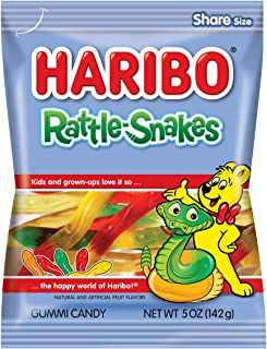 Haribo Gummi Candy, Rattle-Snakes, 5 oz. Bag (Pack of 12)